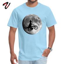 זול גברים של חולצה צוות צוואר הולנד שרוול כותנה בד דינוזאור רכיבה אופניים Tees קבוצת למעלה חולצות זרוק חינם(China)