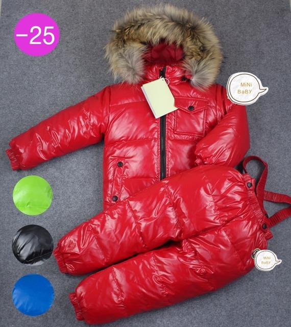 2016 марка Дети Зимний пуховик для девочек одежда 2-6Y теплый сгущает пальто для Детей зимние куртки комбинезоны снег носить