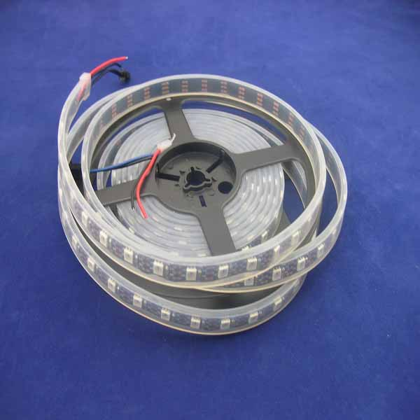 DC5V,Black PCB 4m/reel WS2812B 60leds/m led digital strip silicon tube IP67, 6WS2812B built-in 5050 rgb chip; - SCOTT LED Store store