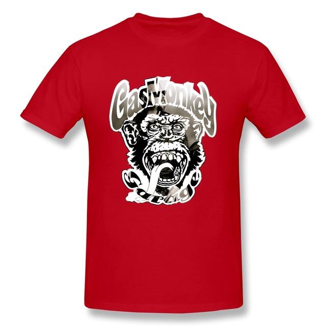 Газ обезьяна гараж одежда музыка о-воротник ребята милый рубашки для мужчины