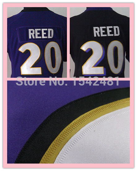 ED Reed womens jersey purple elite ladies American Football baltimore woman jerseys authentic Stitched 20 S-XXL accept mix order(China (Mainland))