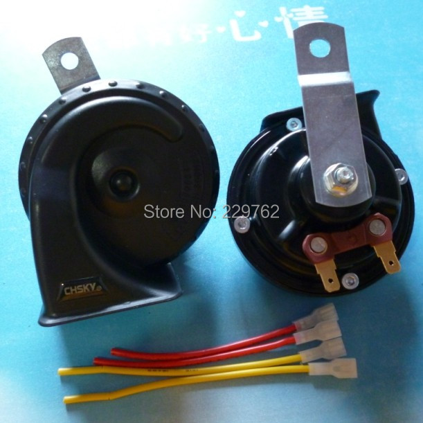 12V powerful  ringing voice 115db high quality electronic Automobile horn car snail horn Auto Universal Waterproof Claxon Horn