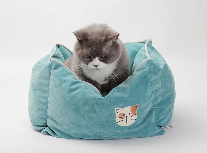 Pet Products Supplies Dog Cushion Bed House Bed For Cat Cushion Kennel Pens Sofa Warm Soft Free Shipping 1PC(China (Mainland))