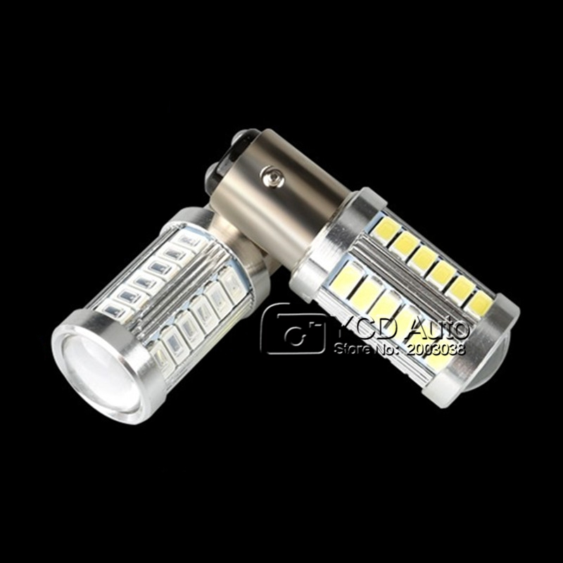 2pcs 1157 BAY15D P21/5W 33 SMD 5630 5730 LED Red White Car Tail Bulb 21/5W Brake Lights auto Fog Lamps Daytime Running Light(China (Mainland))