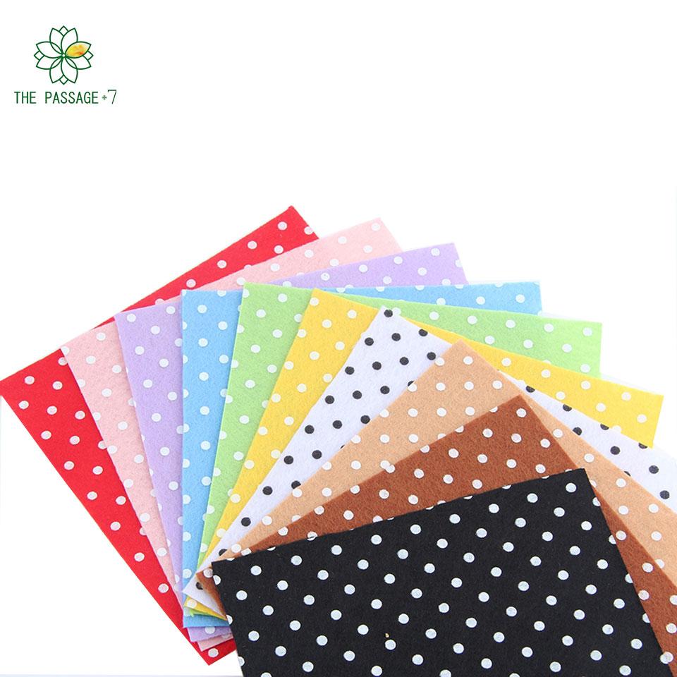Buy print polka dot polyester felt fabric for Polka dot felt fabric