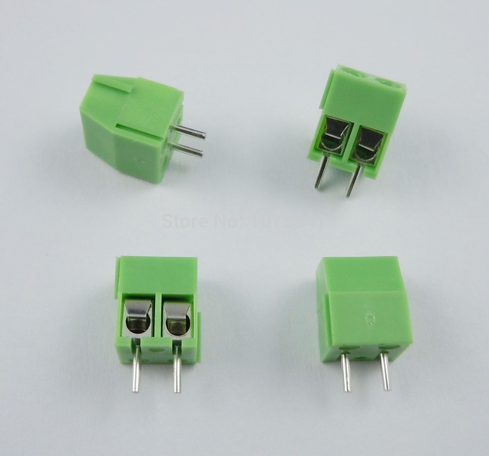 1000 Pcs Per Lot 3.5mm Pitch 2 pin 2 way Straight Pin PCB Screw Terminal Block Connector KF350-2P<br>