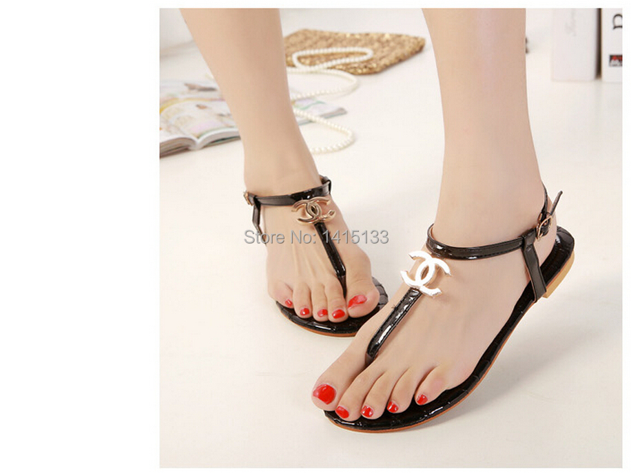 Fantastic Flat Sandals With Rhinestones Flat Sandals With Ankle Straps Flat