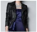 Natural sheepskin genuine leather coats slim women s oblique zipper motorcycle leather jacket fashion new design