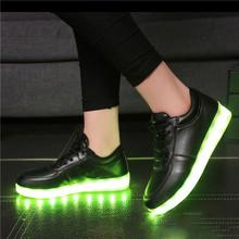 2016 Women Men Footwear chaussure tenis Led Light up yeezy glow Basket Superstar Shoe Luminous With Usb for adult femme feminino(China (Mainland))