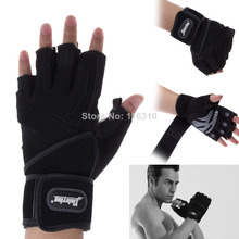 New 2014 Gym Body Building Training Grip Wrist Wrap Exercise Gym Weight Lifting Sport Mesh Half Finger Gloves