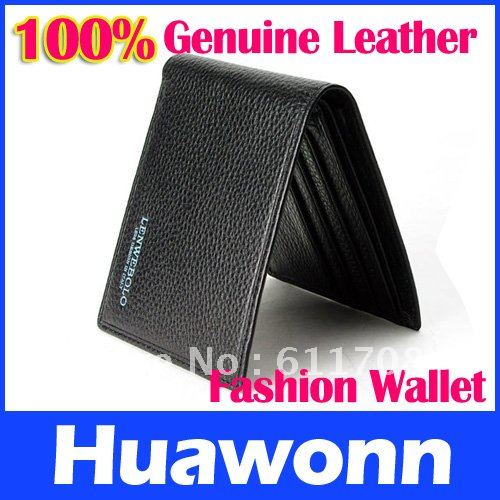 Freeshipping fashion genuine leather brown black quality guarantee mens' wallets - Cycling & Outdoor Sports store