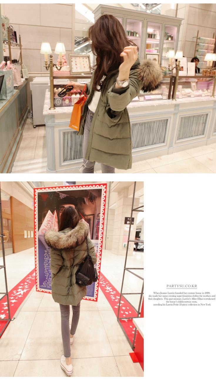 Скидки на 2015 Широкий талией Длинные Молния Толщиной Полная Продажа Новый Зимний Пуховик Женщины Красивый Пальто Parka Большие Истинные Воротники женские Куртки