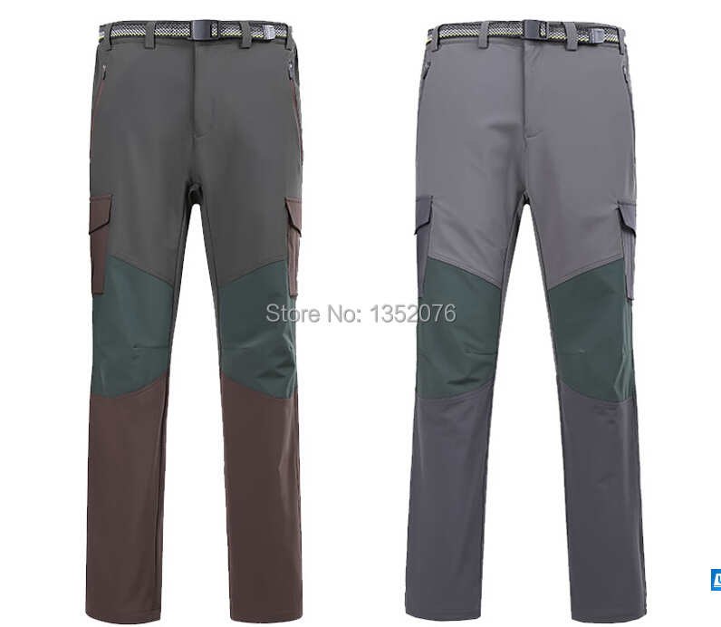 2015 New Softshell Hiking Pants Mens Waterproof Windproof Outdoor Sport Casual Trousers Camping Climbing Pants Big Size M-3XL<br><br>Aliexpress