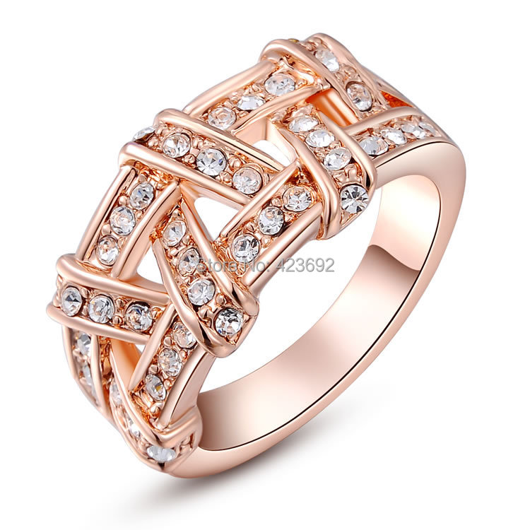 2016 cubic zircon hot sale white stone fashion gift rings for Tile fashion 2016