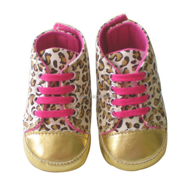 Pratical Brand New Soft Sole Baby Girl Toddler Infant Leopard Crib Shoes Age 3-18 Months Free Shipping