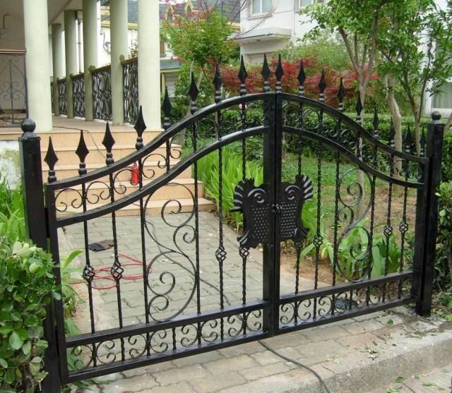 Wrought Iron Patio Doors : Villa wrought iron gates open patio doors residential unit