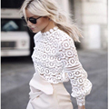 2016 Hot women tops Women Clothing fashion Blusas Femininas Blouses Shirts Women Crochet Blouse Lace Shirt