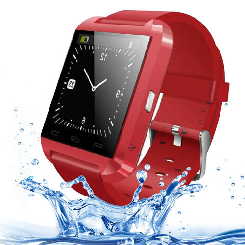 New 2014 Red Bluetooth Smartwatch U8 U Smart Waterproof Watch for iPhone 4/5 Samsung S4/Note 3 HTC Android Phone Smartphones<br><br>Aliexpress