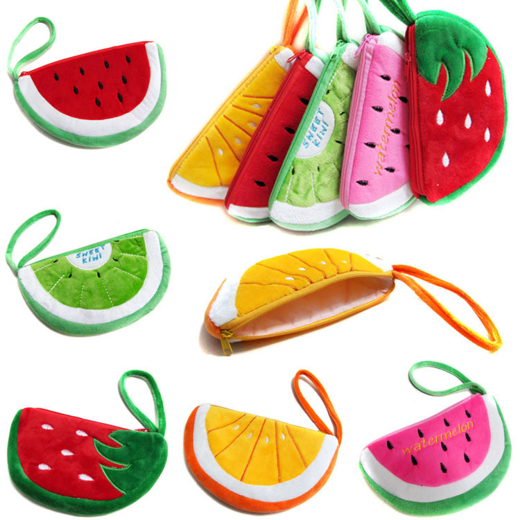 hot sale new style fashion cute women children kids coin purse small coin wallet hobos fruit watermelon shape storage bag <br><br>Aliexpress