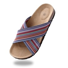 2016 Women Sandals Summer Slides Shoes Beige Flip Flops Elastic or Buckle Casual Beach Shoes(China (Mainland))