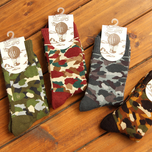 Носки бренда мода классический камуфляж носок высокое качество кашемир шерсть зима ...