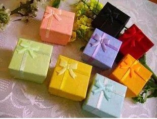 30% off 48 pcs mixed colors cheap price silver jewelry rings paper boxes gift package ring box wholesale(China (Mainland))