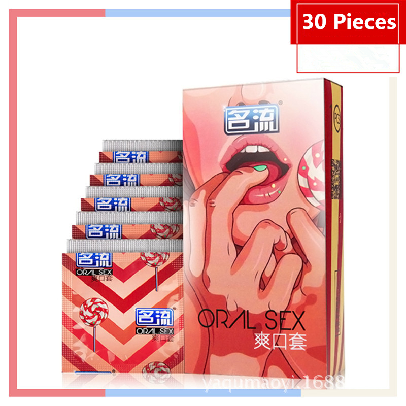 30 Packed Condom Female Condoms Oral Sex Sets Fruity Taste Without Oil(China (Mainland))