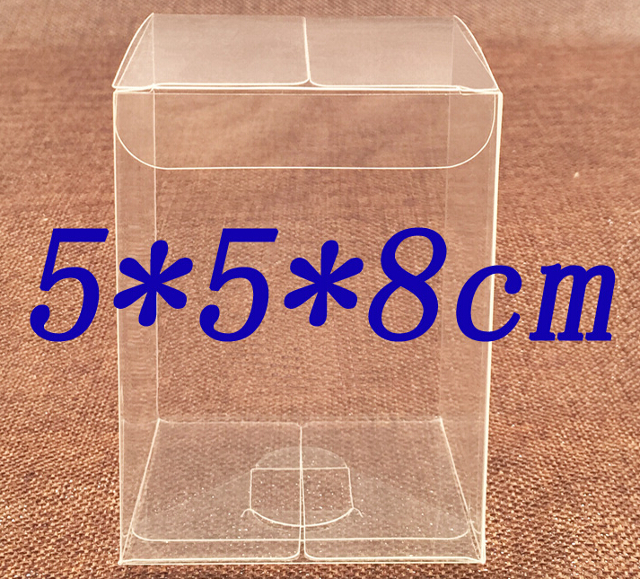 Size:5*5*8cm, clear cake boxes , plastic cd box , transparent small box(China (Mainland))