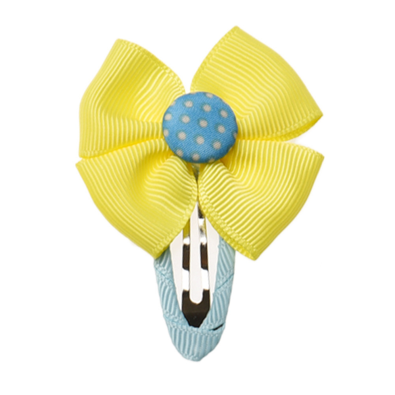 kids yellow ribbon bow Hair Clip girls Accessories Hairpins&Baby Barrettes - E-Shocking store