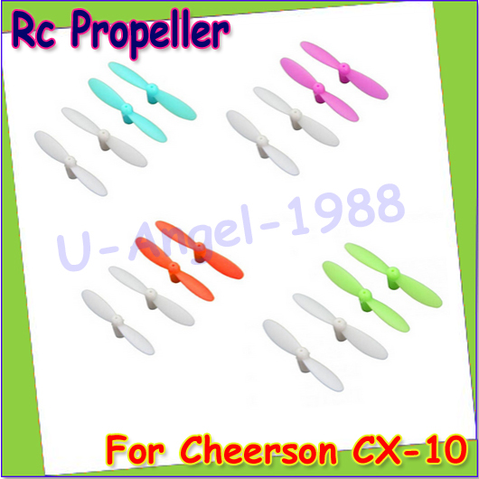 Free shipping 20pcs cheerson cx-10 cx10 blade spare parts propeller main blades cx 10 RC quadcopter helicopter