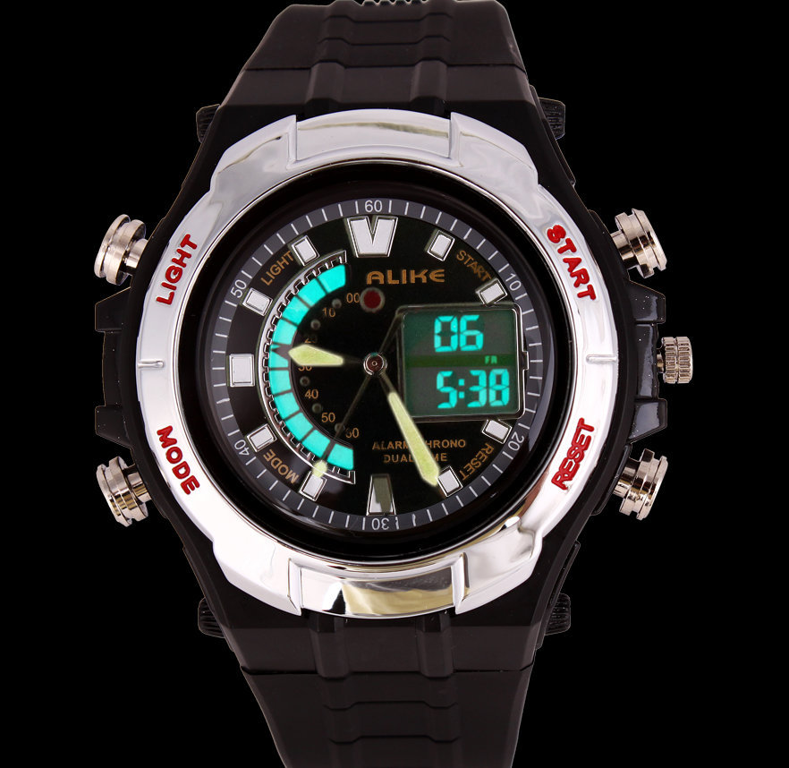 watches luxury brand sports digital dual time