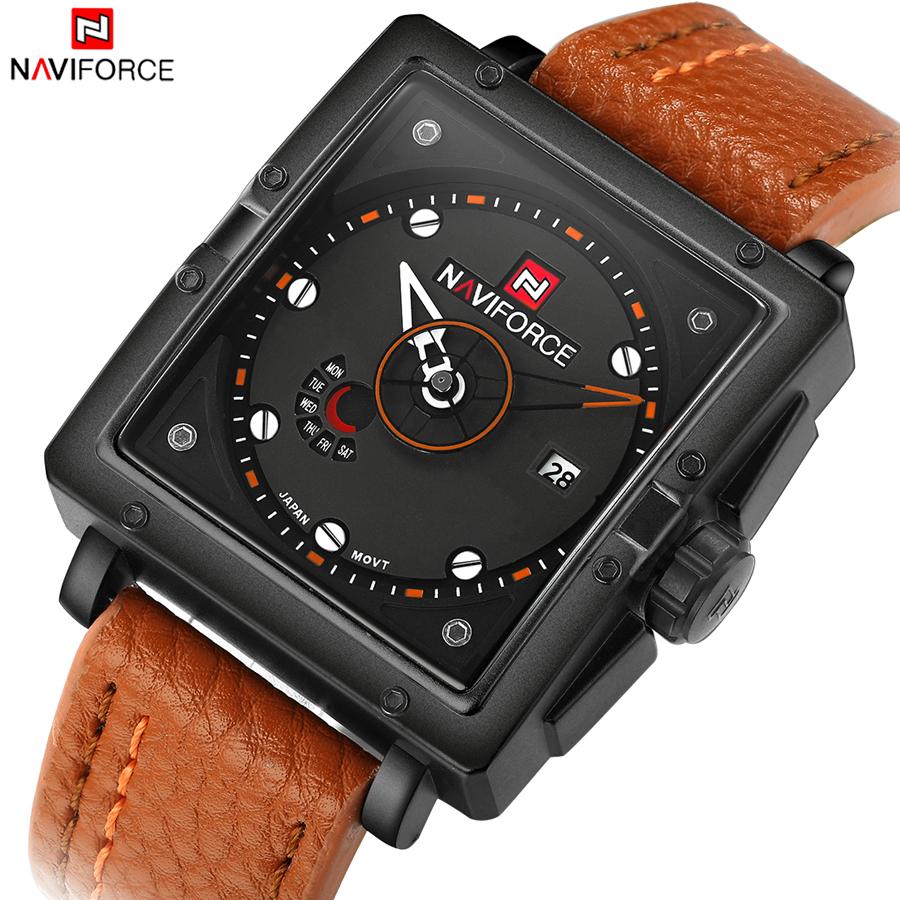 NAVIFORCE Luxury Brand Men Quartz Analog Watch Date Clock Man Army Military Sports Watches Leather Clock Relogios Masculino<br><br>Aliexpress