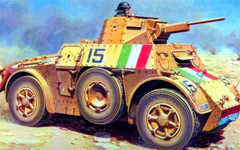 art Autoblinda 41 Autoblinda 41 AB 41 an Italian an armored car a tower with a 20-mm gun 4 Sizes Home Decoration Canvas Poster(China (Mainland))