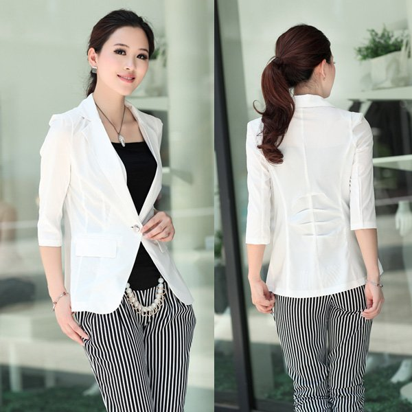Sunlun Free Shipping 2012 Women's Middle-length Sleeve Blouse/Ladies' Chiffon Western-style Shirt