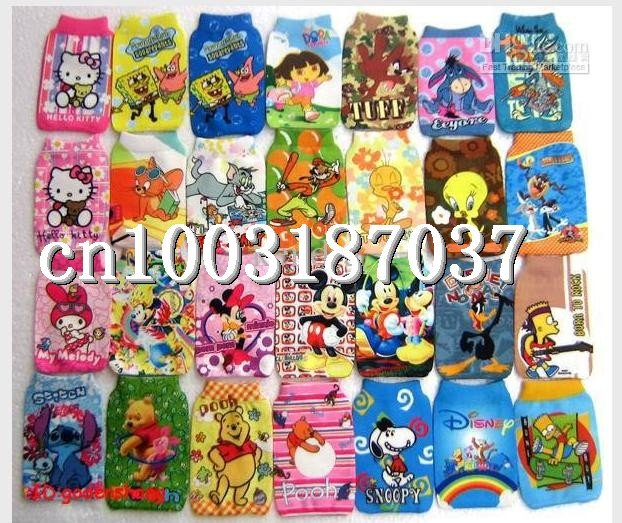 Wholesale - 500 pcs New Mixed MOBILE Cell PHONE Holder Socks Pouch(China (Mainland))