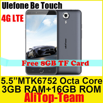 """Original Ulefone Be Touch 4G LTE Phone 5.5"""" HD IPS MTK6752 Octa Core 1.7GHz 3G RAM 16G ROM Android 5.0 Russian Spanish"""