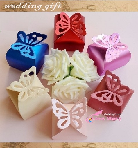 2014 5s Pearl color Butterfly Candy Box ,baby shower Favor ,Wedding Birthday favor candy box gifts - Health & Life store