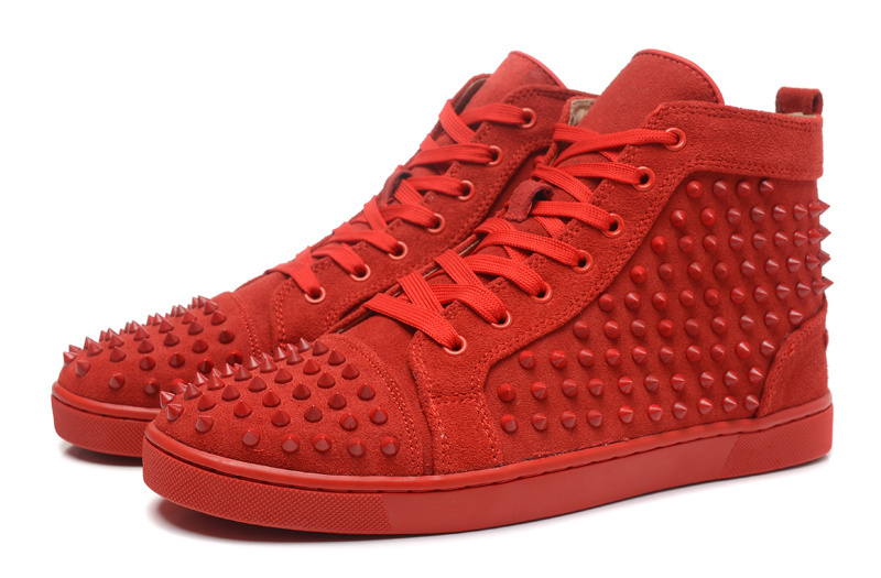 aaa replica shoes - 2015-Brand-Men-Shoes-Lace-Up-Ankle-Boots-Red-Bottom-Sneakers-Spike-Rivets-High-Top-Zapatillas.jpg