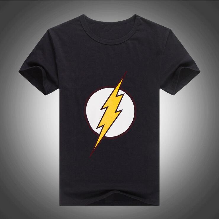 2016 Hot Sales Mens Designer Casual O-Neck short Sleeveed Tees Shirt DC Comics Flash Logo T-shirt 10 Colors 231(China (Mainland))