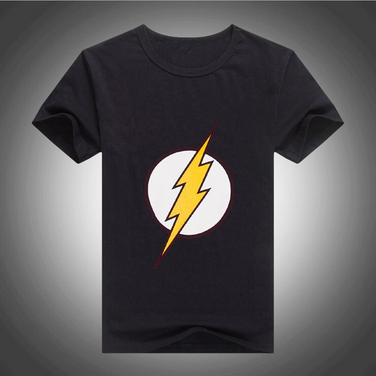 2016 Hot Sales Mens Designer Casual O-Neck short Sleeveed Tees Shirt DC Comics Flash Logo T-shirt 10 Colors 231(China (Mainland))