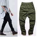 Absolutely High Quality 2016 Side RIRI Zippers Multi Pockets Pants Kanye West Justin Bieber ARMY Camouflage