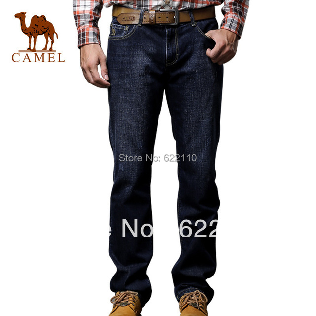 CAMEL Mne's straight leg casual jeans;in stock ,freeshipping ,on discount,mature choice