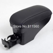 Black arm rest Leather Center Console Armrest Car trim interior Accessories Fit for Nissan Tiida Versa(China (Mainland))