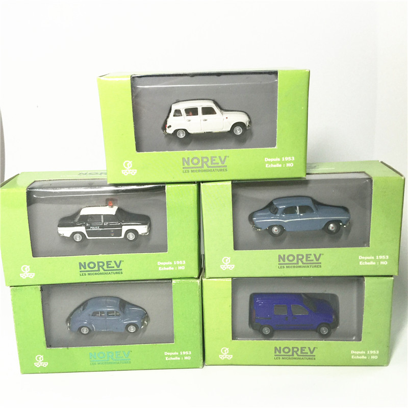 Norev 1:86 Depuis 1953 Renault Kangoo HO blue mannequin automotive with authentic field