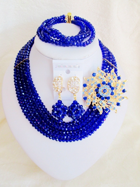 Fashion  NEW African Beads Jewelry Set Crystal Beads Necklace Set Nigerian Wedding African Jewelry Set Free shipping   RX-012<br><br>Aliexpress