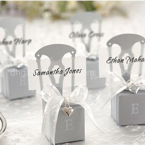 HOT 120PCS Chair Design Favor Boxes With Heart Charm And Ribbon for Wedding Candy Gift Chocolate Boxes Free Shipping(China (Mainland))