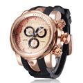 Men Women Sport large Watch Fashion Quartz Military Wristwatch gold color rubber strap dz men LuxuryBrand