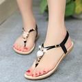 Summer Women Sandals 2016 Flat Ladies Beach Sandalias Mujer Bohemia Flip Flop Female Crystal owl sandal