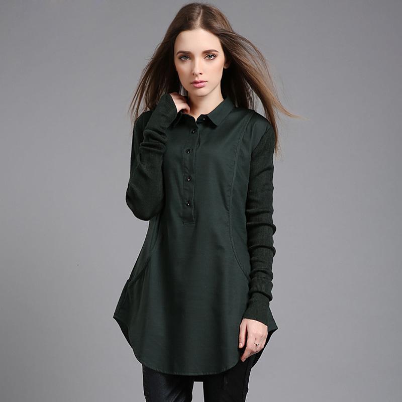 Autumn Women Blouses Long Sleeve Shirt High End Cotton And