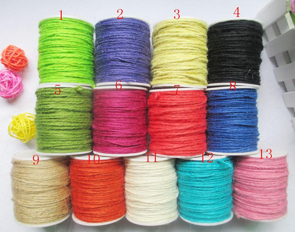 Hemp jute Rope Jute colored twine Cord for DIY/Decorative ...